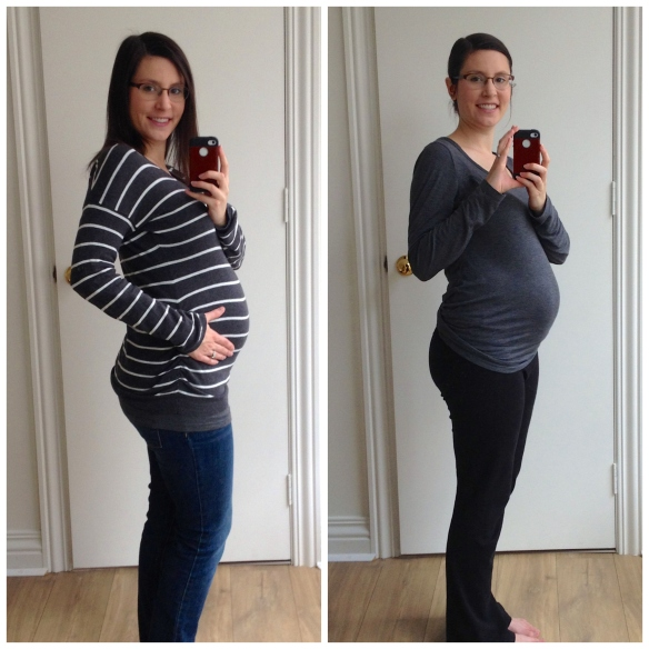 23 weeks on the left, 24 weeks on the right.